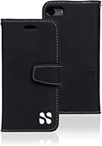 SafeSleeve EMF Protection Anti Radiation iPhone Case: iPhone 8, iPhone 7 and iPhone 6 RFID EMF Blocking Wallet Cell Phone Case (Black)