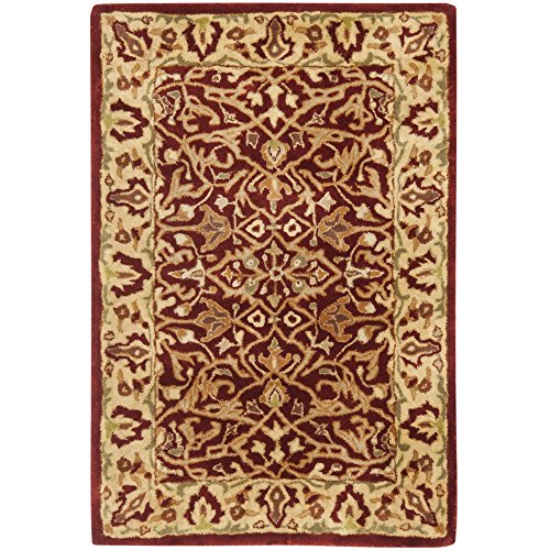 Safavieh Persian Legend Collection PL520A Handmade Traditional Rust and Beige Wool Area Rug (2