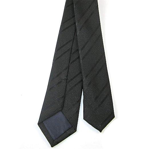 FUWUX 5 cm Oro Negro Raya Flaca Corbata diseño clásico 100% Seda ...