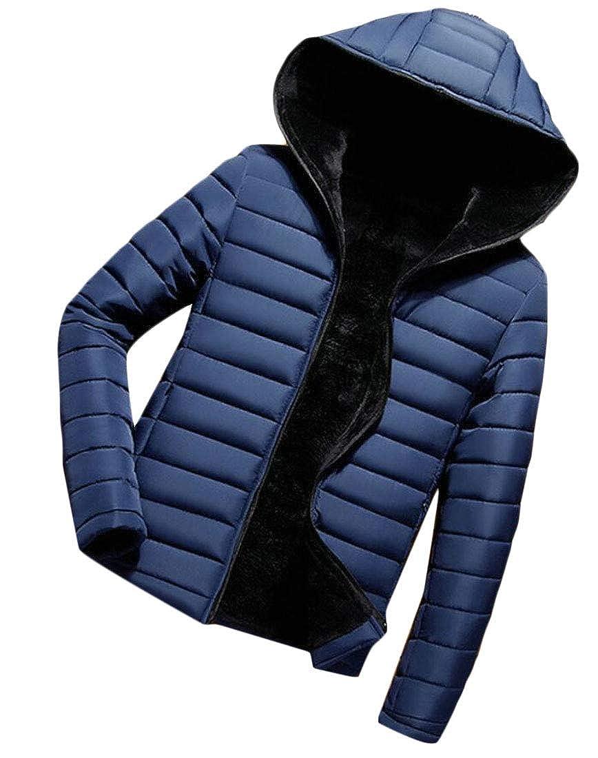 WSPLYSPJY Mens Fleece Lined Thicken Hooded Casual Outwear Jackets