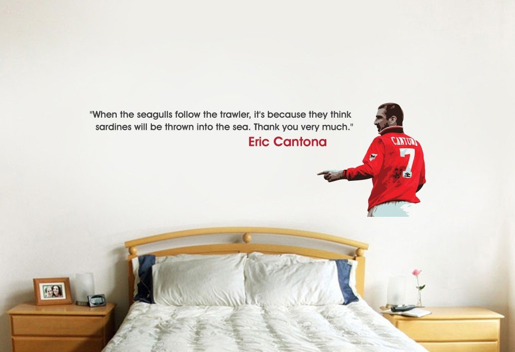 Beautiful Game Eric Cantona Seagulls Quote Wall Sticker 1300mm X 500mm Amazoncouk Kitchen Home