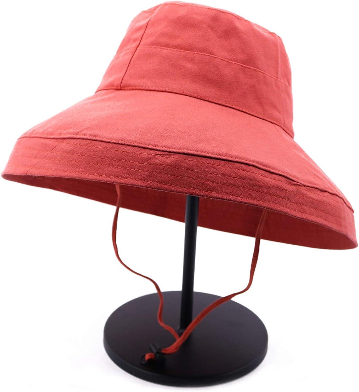 Elonglin Femme Capeline Pliable Coton Chapeau de Soleil Large Bord Visi/ère Et/é Plage Voyage UPF UV