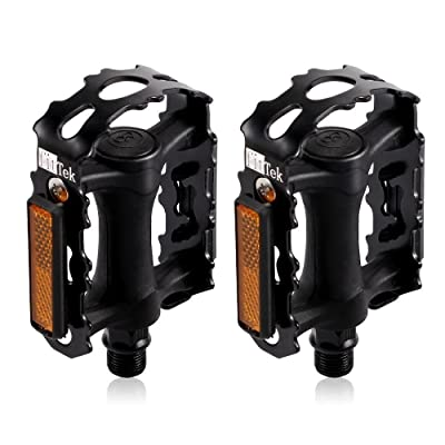 Bike Pedals, Bicycle Pedals fitTek High Performance Pedals for Bikes : Sports & Outdoors