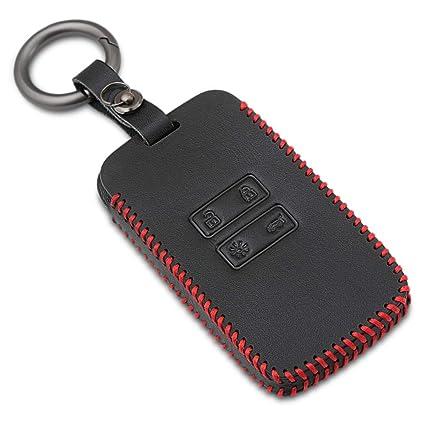 Funda de Cuero para Llave Smart Key de 4 Botones Carcasa ...