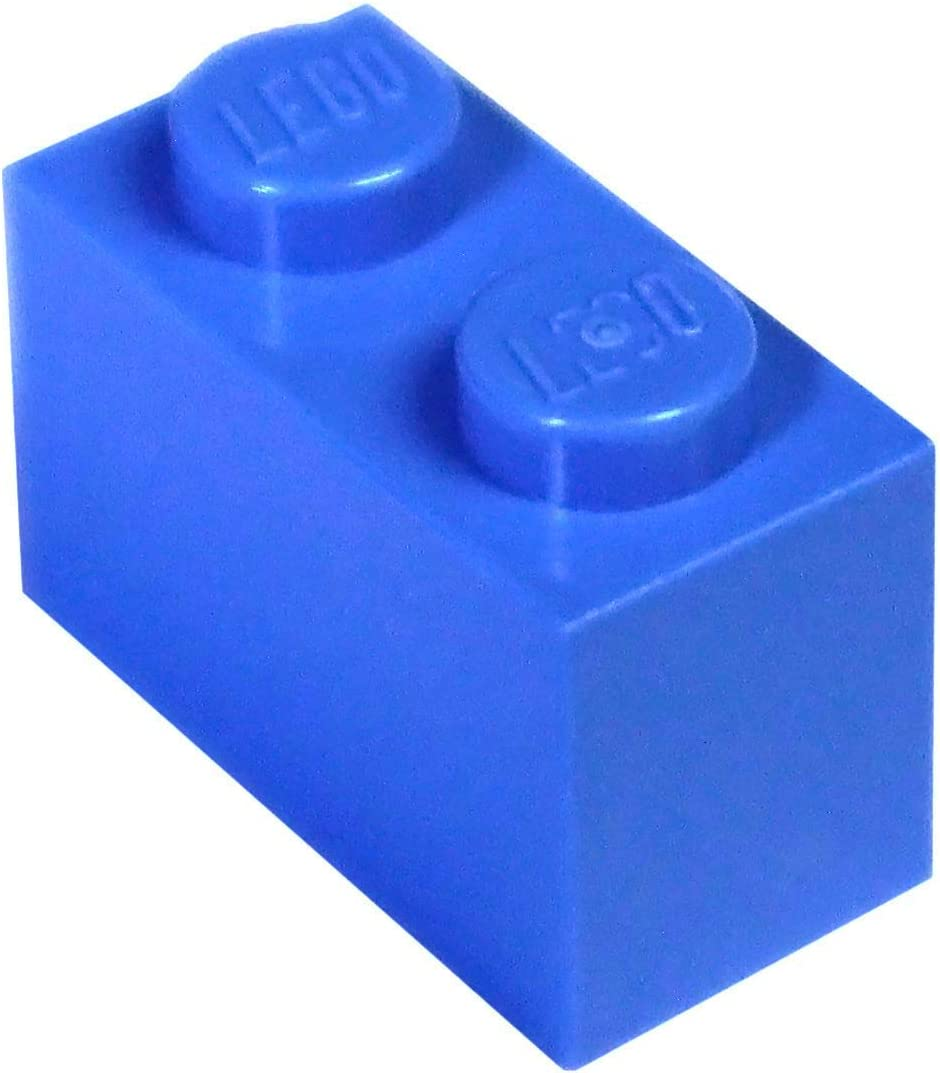LEGO Parts and Pieces: Blue (Bright Blue) 1x2 Brick x200