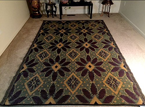 Outdoor Patio Rv Camping Rug Mat 6 X9 Indoor Picnic