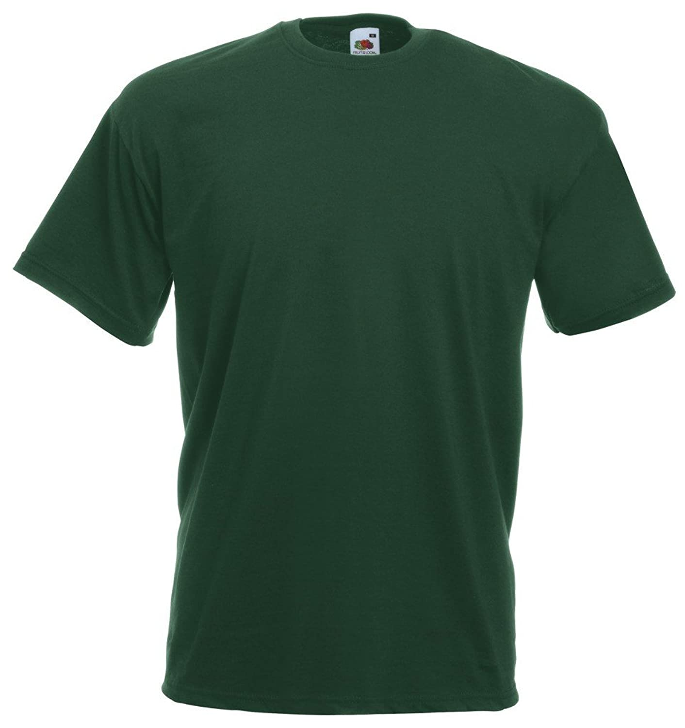 10 Fruit of the Loom T Shirt S-XXXL in Various Colours Green Flaschengr眉n Size:S