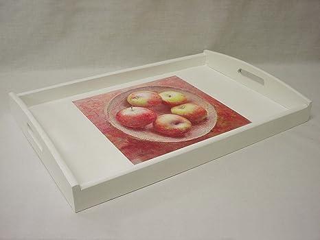 Vassoi In Legno Fai Da Te : Vassoio legno con manici lisa bianca mele: amazon.it: fai da te