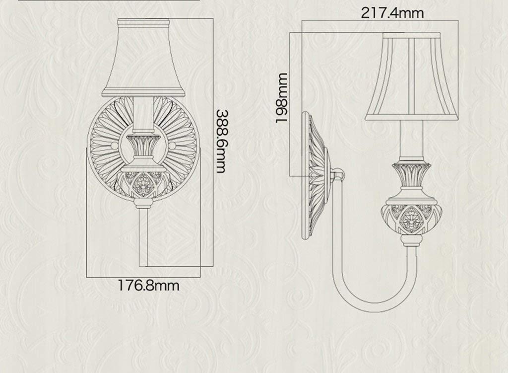 Lampe Fjtxc Exquise Steady Lumière Lobby Lampes Plates Chambre De CoeBdx