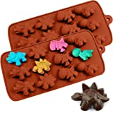 PERNY Dinosaur Molds, Dinosaur Silicone Molds, Candy, Chocolate Etc, 2 Pack