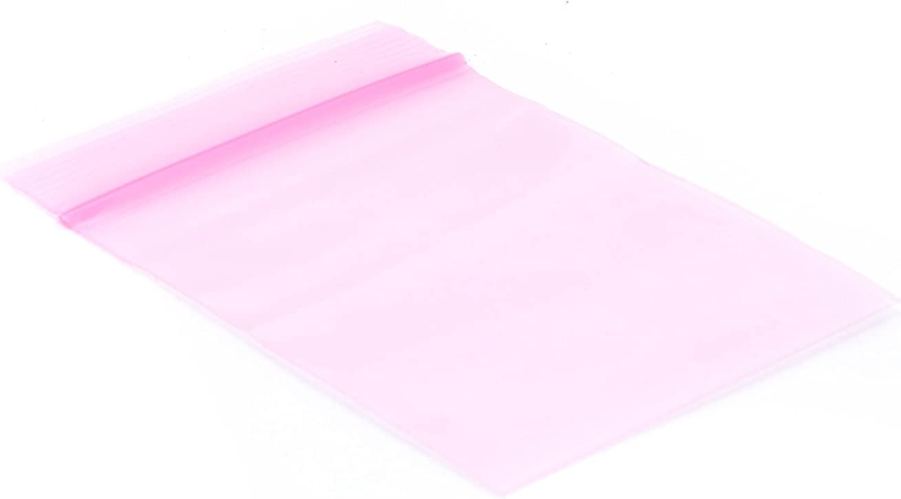"Pink Anti-Static Seal Top Bag - 2"" x 3"" - Pack of 100"
