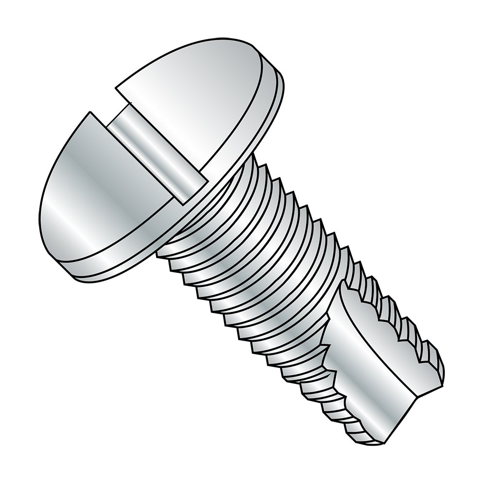 1//2 Length 1//2 Length Pack of 100 Slotted Drive Small Parts 04083SP Pack of 100 Pan Head Zinc Plated Finish #4-40 Thread Size Steel Thread Cutting Screw Type 23
