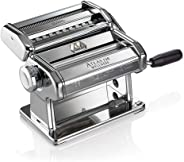 Marcato 8320 Atlas 150 Machine, Made in Italy, Includes Pasta Cutter, Hand Crank, and Instructions, Silver