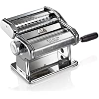 Marcato Atlas Pasta Machine, Stainless Steel, Silver, Includes Pasta Cutter, Hand Crank and Instruction (8320)