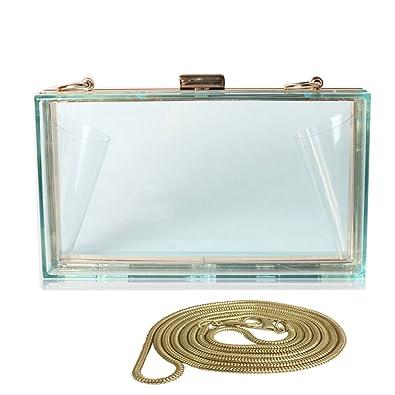 Abuyall Women Acrylic Jelly Transparent Evening Chain Bags Purses Clear Box  Clutch Vintage Banquet Handbag Crossbody bb7dc6d30d74