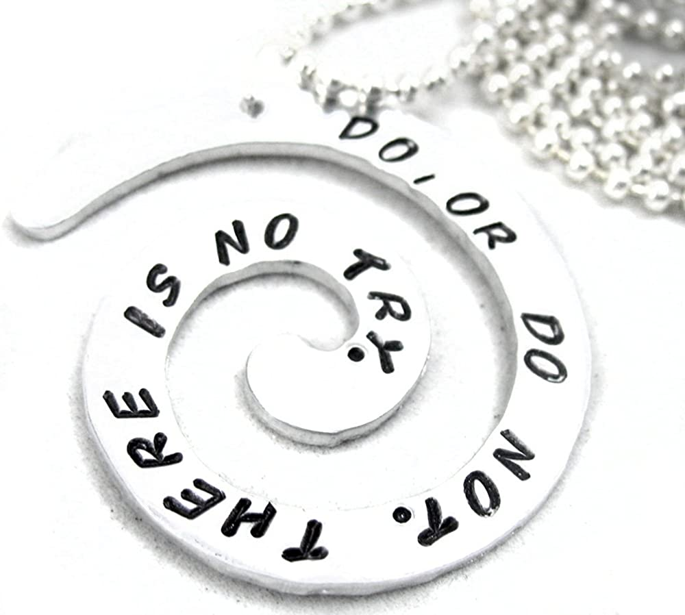 or Do Not Star Wars Inspired Aluminum Spiral Pendant Do There is No Try.