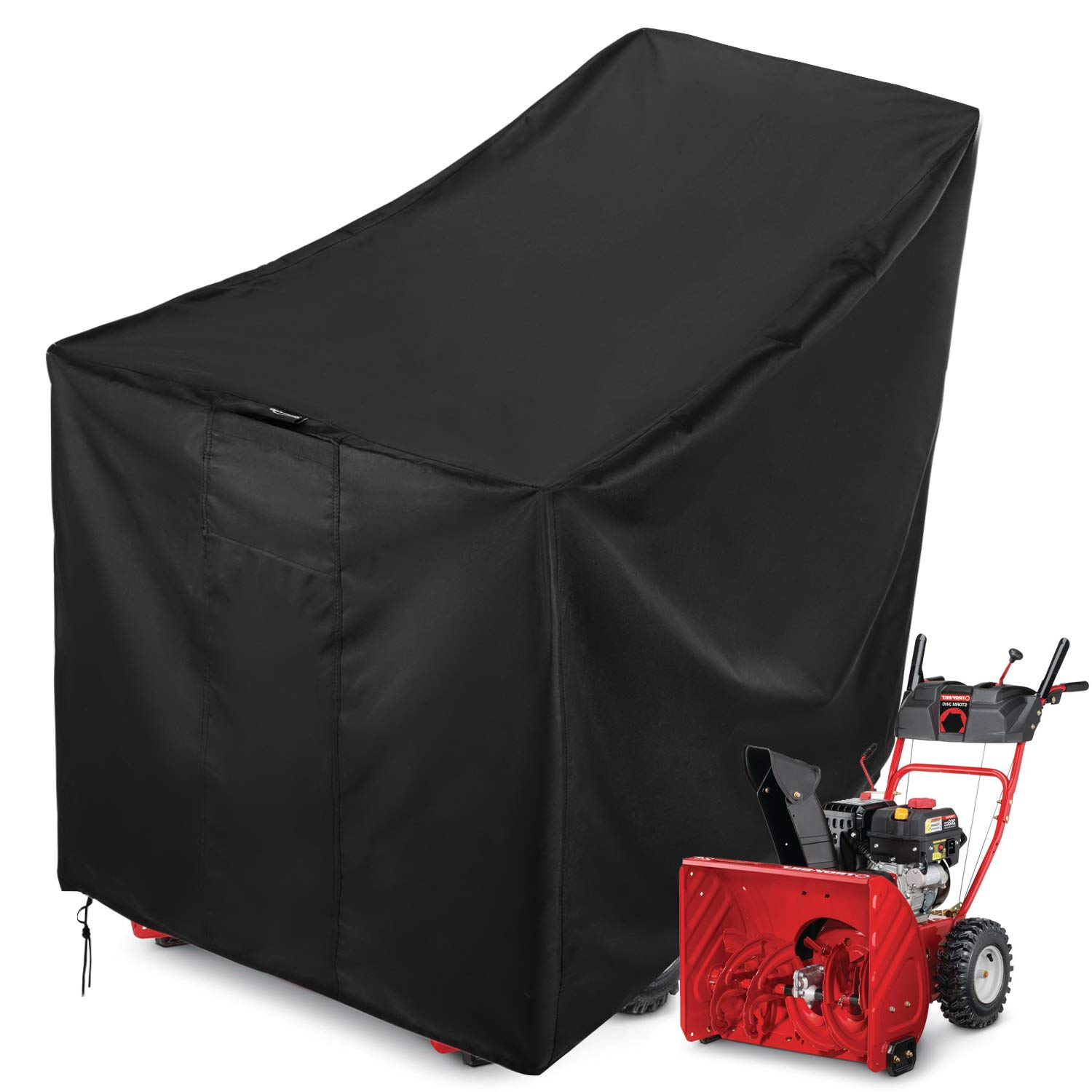 Sunkorto Snow Thrower Cover, Waterproof Heavy Duty Snowblower Cover All-Season Outdoor Protection, 600D Oxford Cloth and PVC Coating by Sunkorto