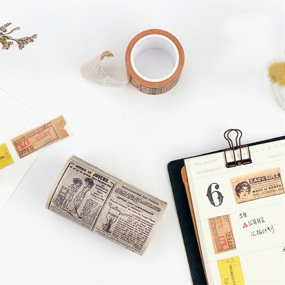 Everyday DIY Vintage Washi Tape Decorative Paper Masking Tape Adhesive Scrapbook Sticker Leonardo Da Vinci Manuscript