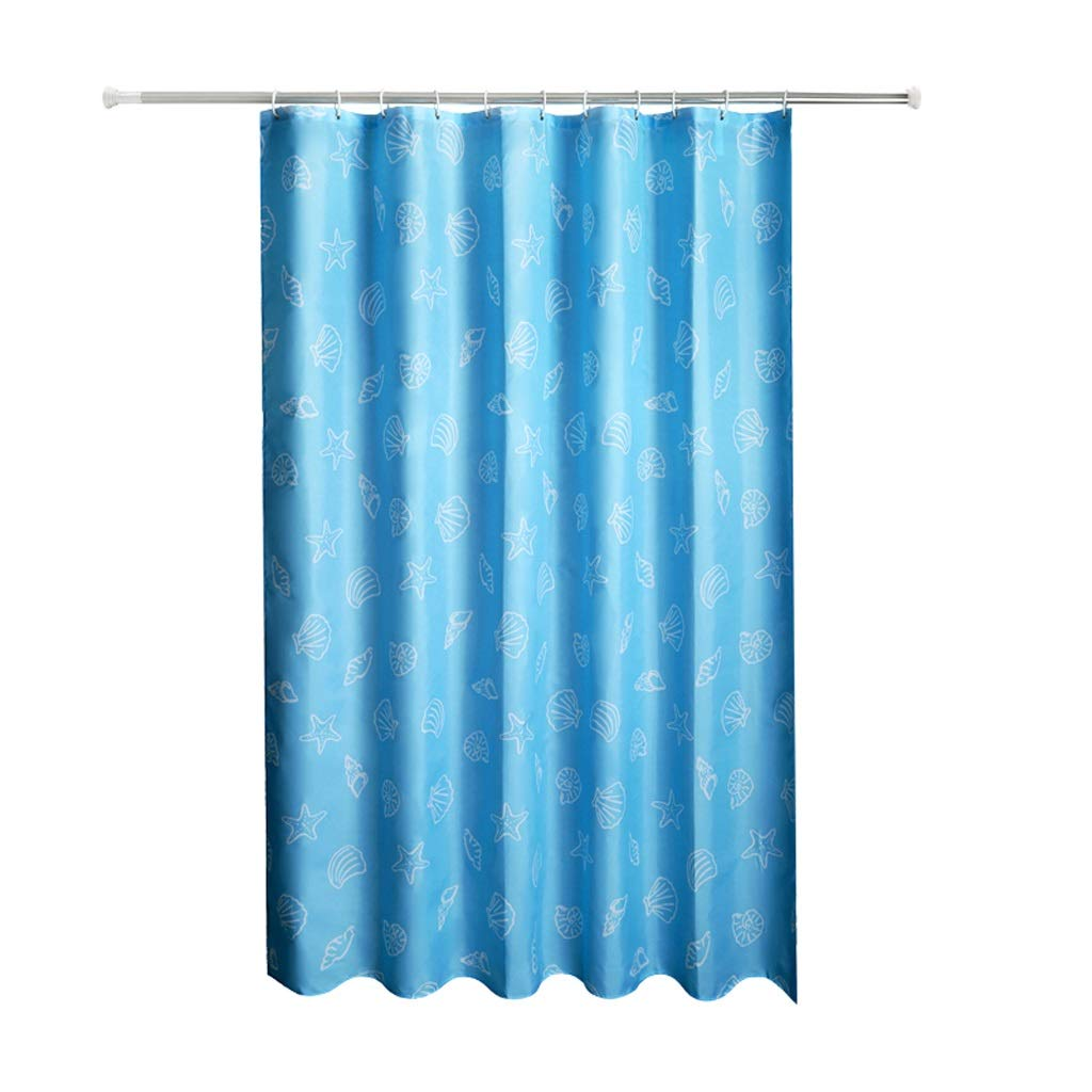 Curtain Thick Anti-Mold Polyester Shower Curtain, Shower Waterproof Shower Curtain, Partition Bathroom Curtain Shower Equipment (Size : 22m)