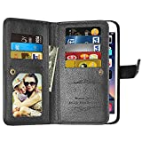 Cheap Galaxy J3 Emerge Wallet Case,J3 Prime,J3 Mission,J3 Eclipse,[9 Card Slots] Leather Wallet Flip Folio [Stand Feature] [Magnetic Closure] Protective Case Cover for Samsung Galaxy J3 2017 J320 (Black)