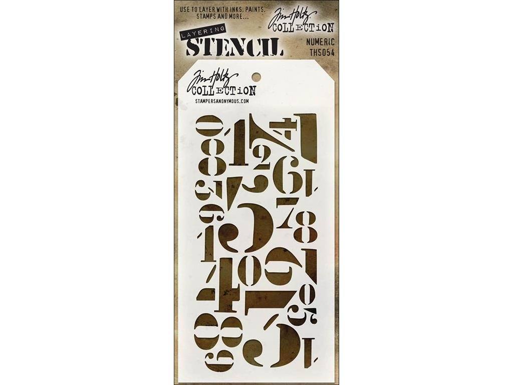 Stampers Anonymous StampersA Layering Stencil THoltz Numeric