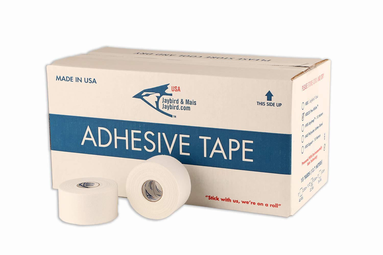 Jaybird & Mais - EX25 PRO-White™ Athletic Tape - 32 ROLL CASE - Each ROLL is 1½'' x 15 Yards
