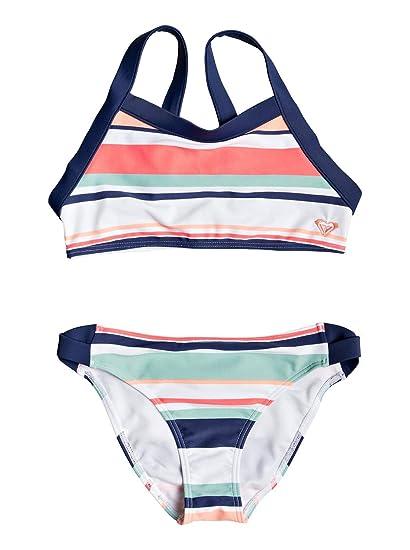 d27e48d143 Roxy Happy Spring - Ensemble de Bikini Crop-Top pour Fille 8-16 Ans  ERGX203195: Roxy: Amazon.fr: Vêtements et accessoires
