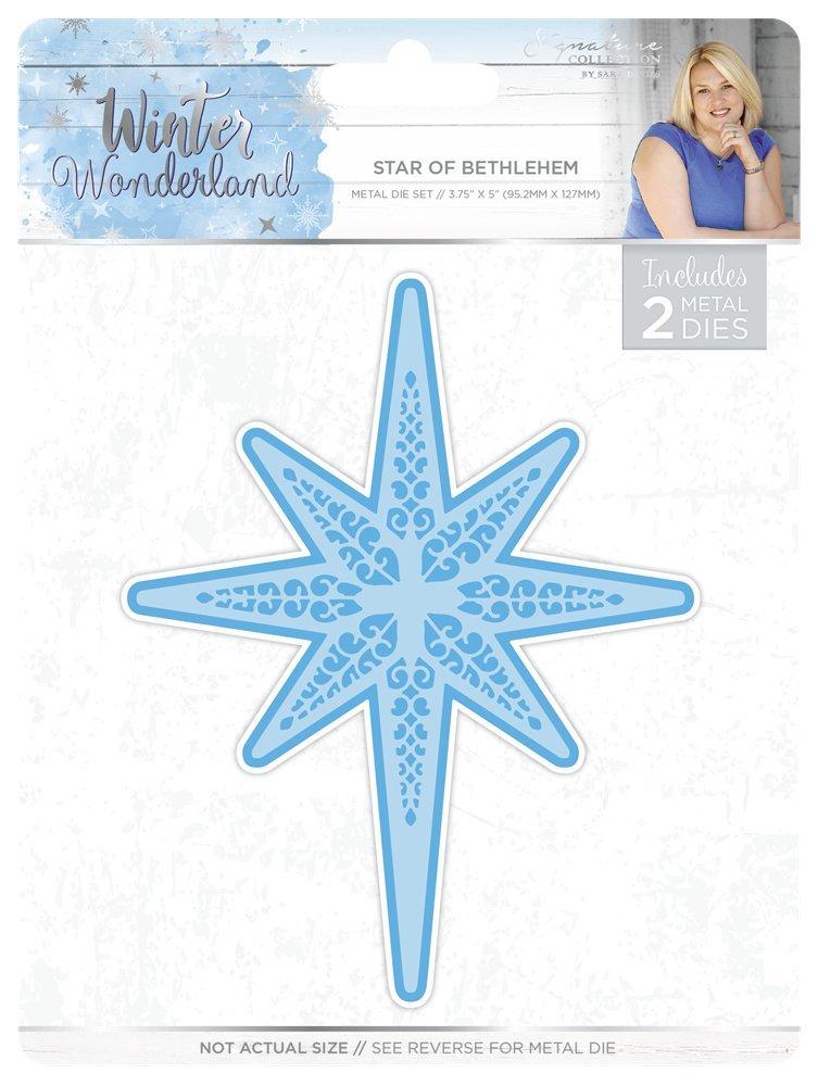 Sara Signature Winter Wonderland Star of Bethlehem Metal Die Set, Silver