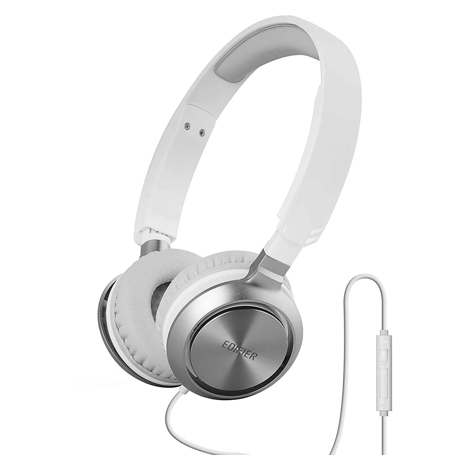 Edifier M710 On-Ear Headphones with Mic and Volume Control - White