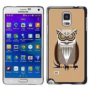 Caucho caso de Shell duro de la cubierta de accesorios de protección BY RAYDREAMMM - Samsung Galaxy Note 4 SM-N910 - The Professor Night Owl