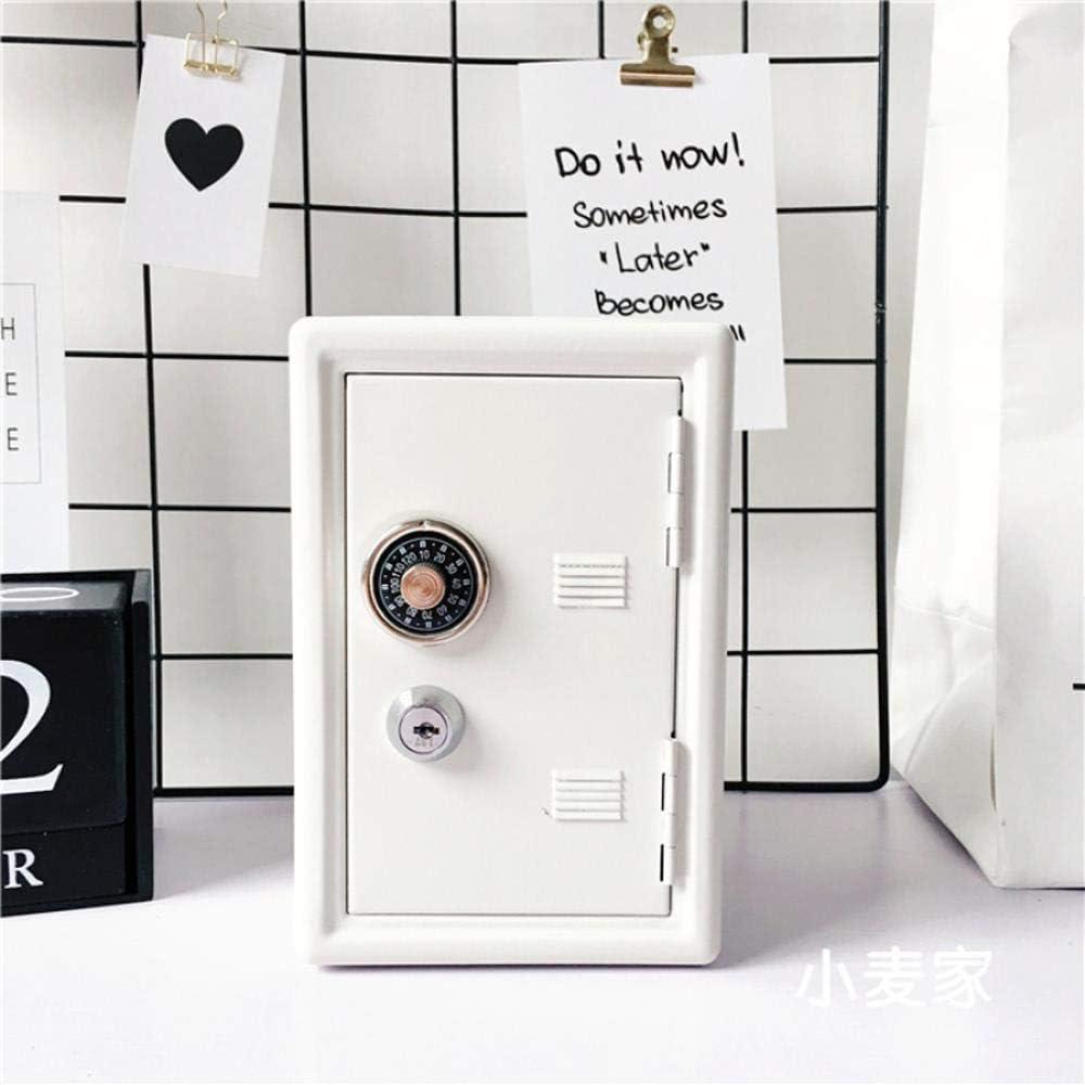 安全な安全金属のお金銀行預金現金貯金箱ロック可能な2つのキー白