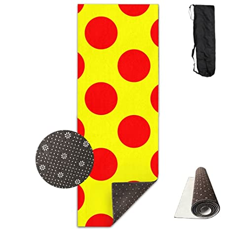 Amazon.com : QNKUqz Red Polka Dot Pattern Deluxe Yoga Mat ...