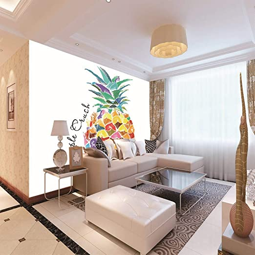 3D Tapetenmuster Wandaufkleber Farbige Ananas Wandbild Dekoration Foto Selbstklebende Leinwand Bild ,250Cm(W) X175Cm(H)-5 Str