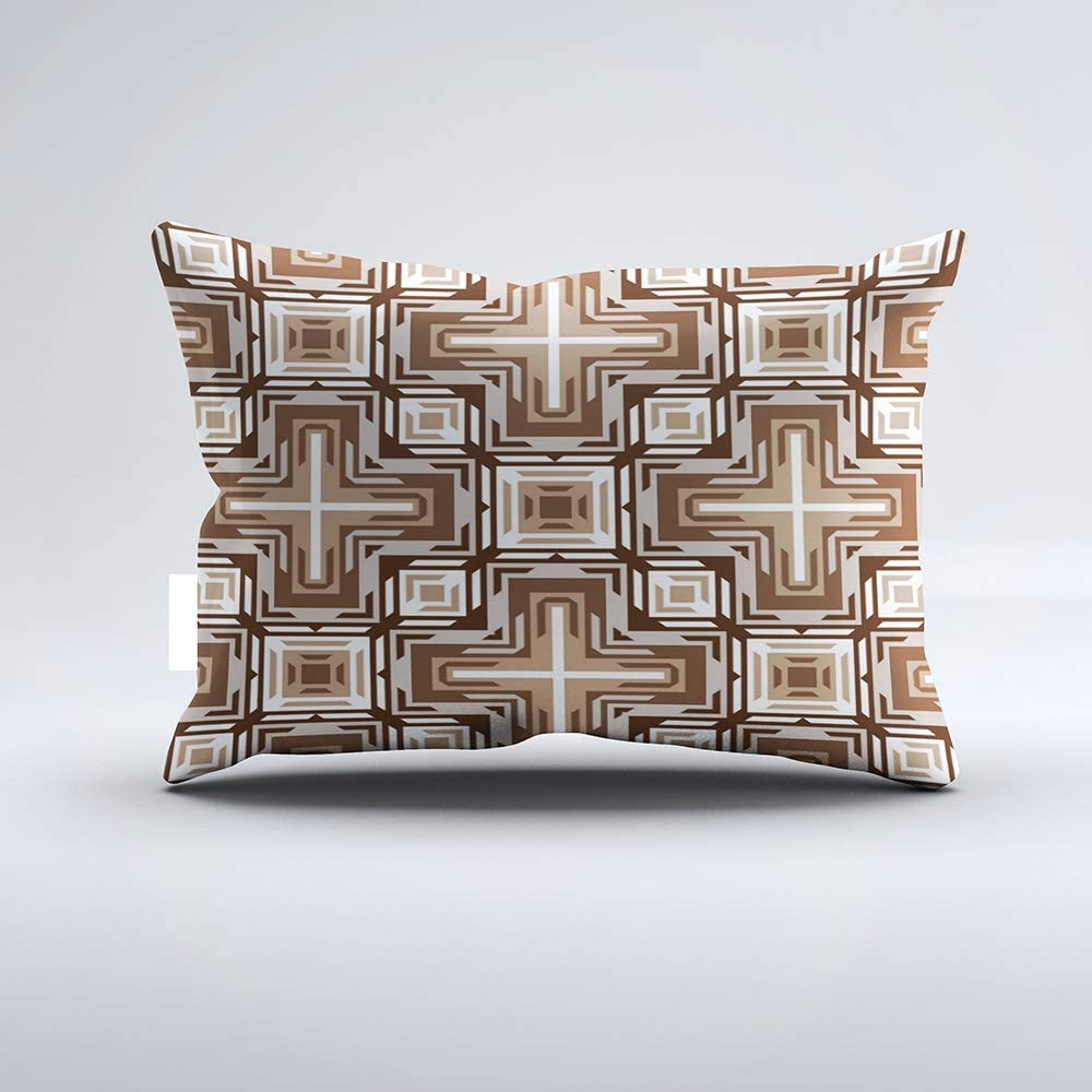 Zippered Pillow Covers Pillowcases One Side 20x30 Inch Modern Tribe Mosaic Native American Indian Pattern Outdoor Pillow Pillow Cases Cushion Cover for Home Sofa Bedding