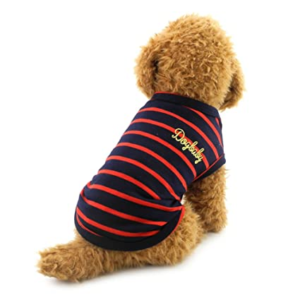 Buy Smalllee Lucky Store Small Dog Cotton Vest Doggy T Shirt Black