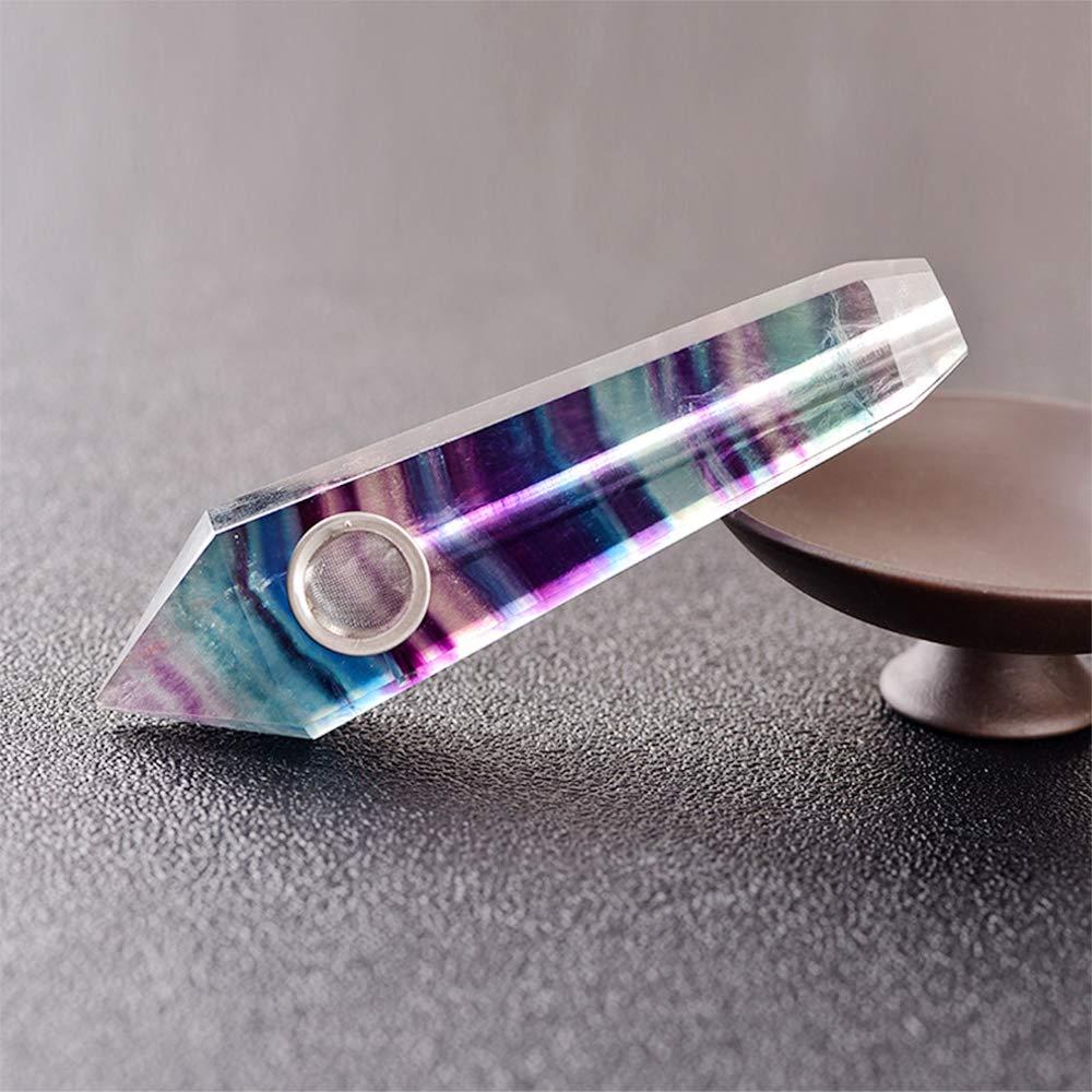 Opal Hexagonal Prism Design 3 Filters and 1 Brush. HZYG Natural Crystal Tube Hand Sanding Technology