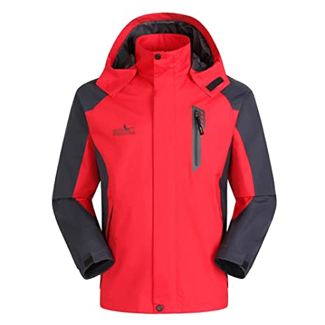 SHANLY Chaqueta Exterior para Hombres Chaquetas De Snowboard Chaqueta con Capucha Softshell Ropa De Montaña Ropa