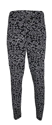 Comfiestyle - Pantalón - chino - para mujer multicolor Creeper Floral XXL (48-50)