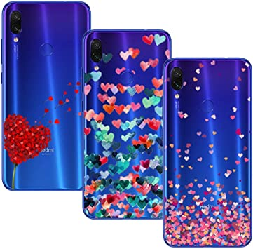 Young Ming (3 Pack) Funda Para Xiaomi Redmi Note 7/ Redmi Note 7 Pro, Transparente Ultrafina Carcasa Case Cover, Amor: Amazon.es: Electrónica