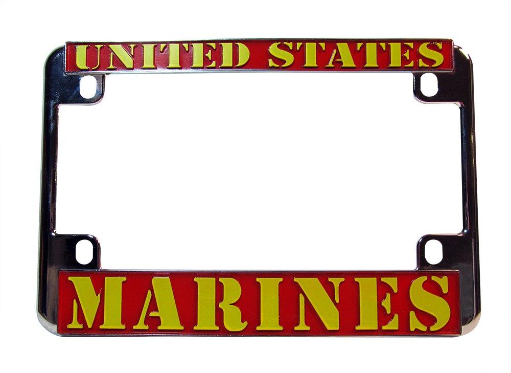 United States Marines Chrome Motorcycle License Plate Frame USMC