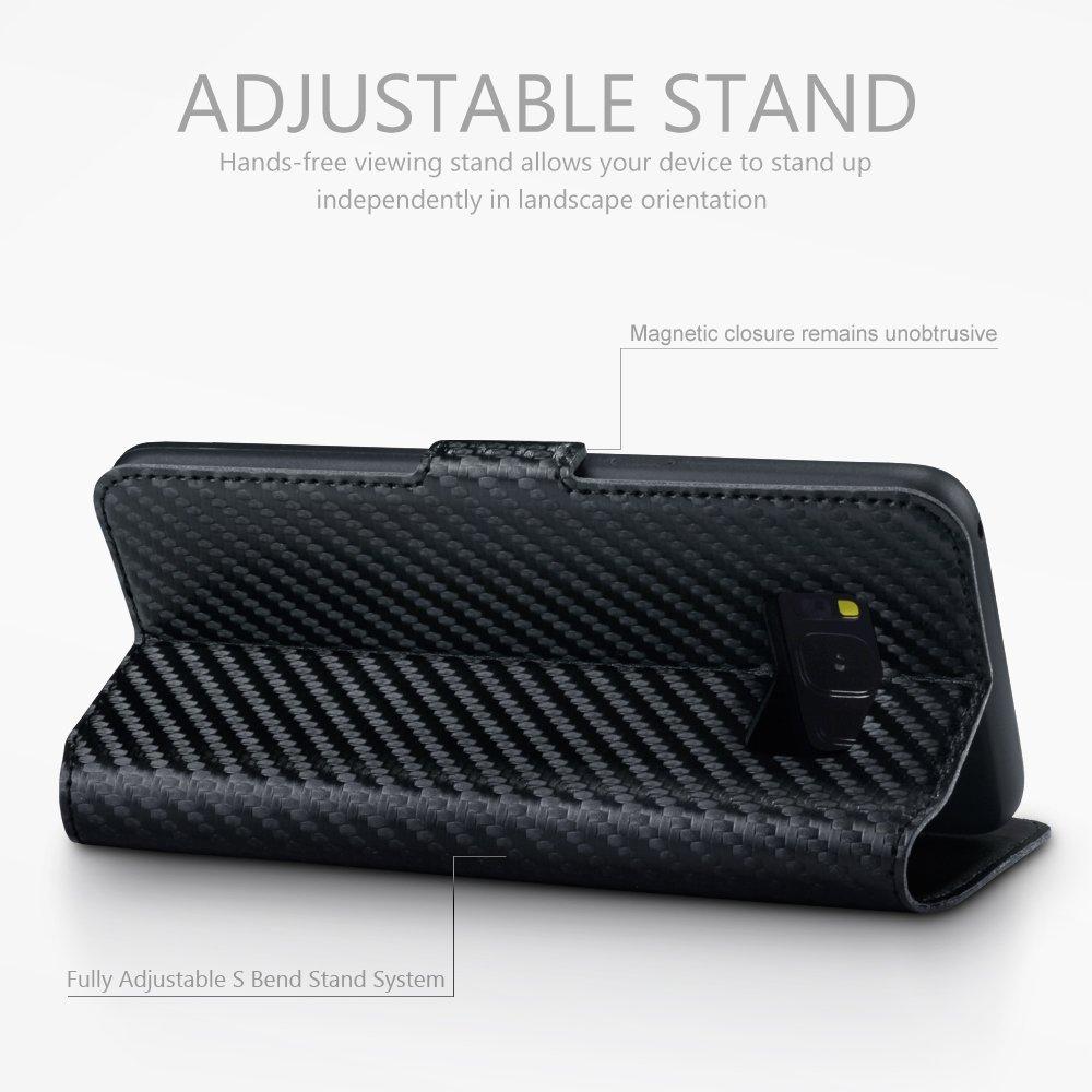 Samsung Galaxy S8 Funda Cartera, adaptable en posicion horizontal: Amazon.es: Electrónica