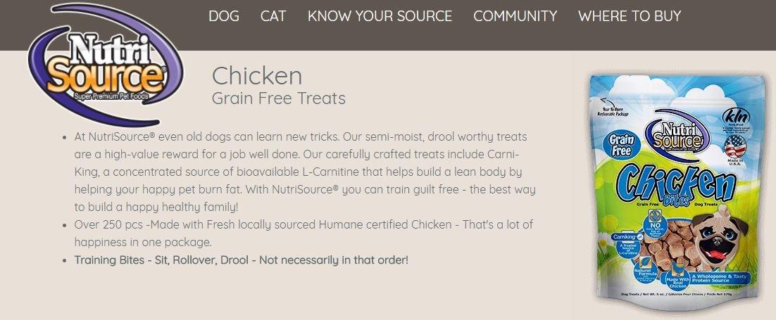 NutriSource GF Chicken Bites 6 oz ( 3 Pack )