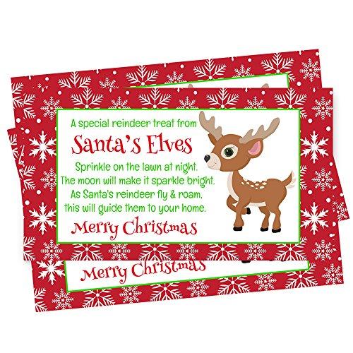 Santa's Magic Reindeer Poem Gift Tag Set of (Reindeer Gift Tags)