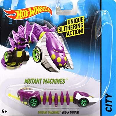 Mutant Machines Spider Mutant - Compatible with Hot Wheels and Made by Hotwheels ~ Unique Slithering Action Car ~ CGM85: Toys & Games [5Bkhe1002189]