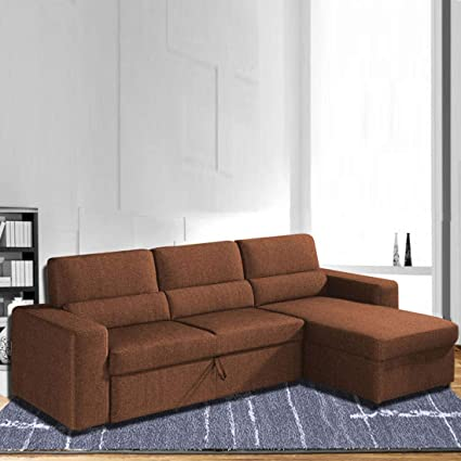 Amazing Adorn Homez Clubber 3 Seater Sofa Double Bed With Storage Theyellowbook Wood Chair Design Ideas Theyellowbookinfo