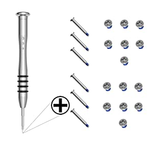 LIANG 2 Sets Replacement Screws with Screwdriver for MacBook Pro 13