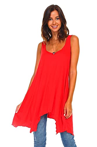 a13c7e718c4 Image Unavailable. Image not available for. Color: Simplicitie Women's  Sleeveless Swing Flare Tunic Dress ...