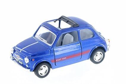 Amazon Com Kinsmart Fiat 500 W Sunrroof Dark Blue 5004d 1 24