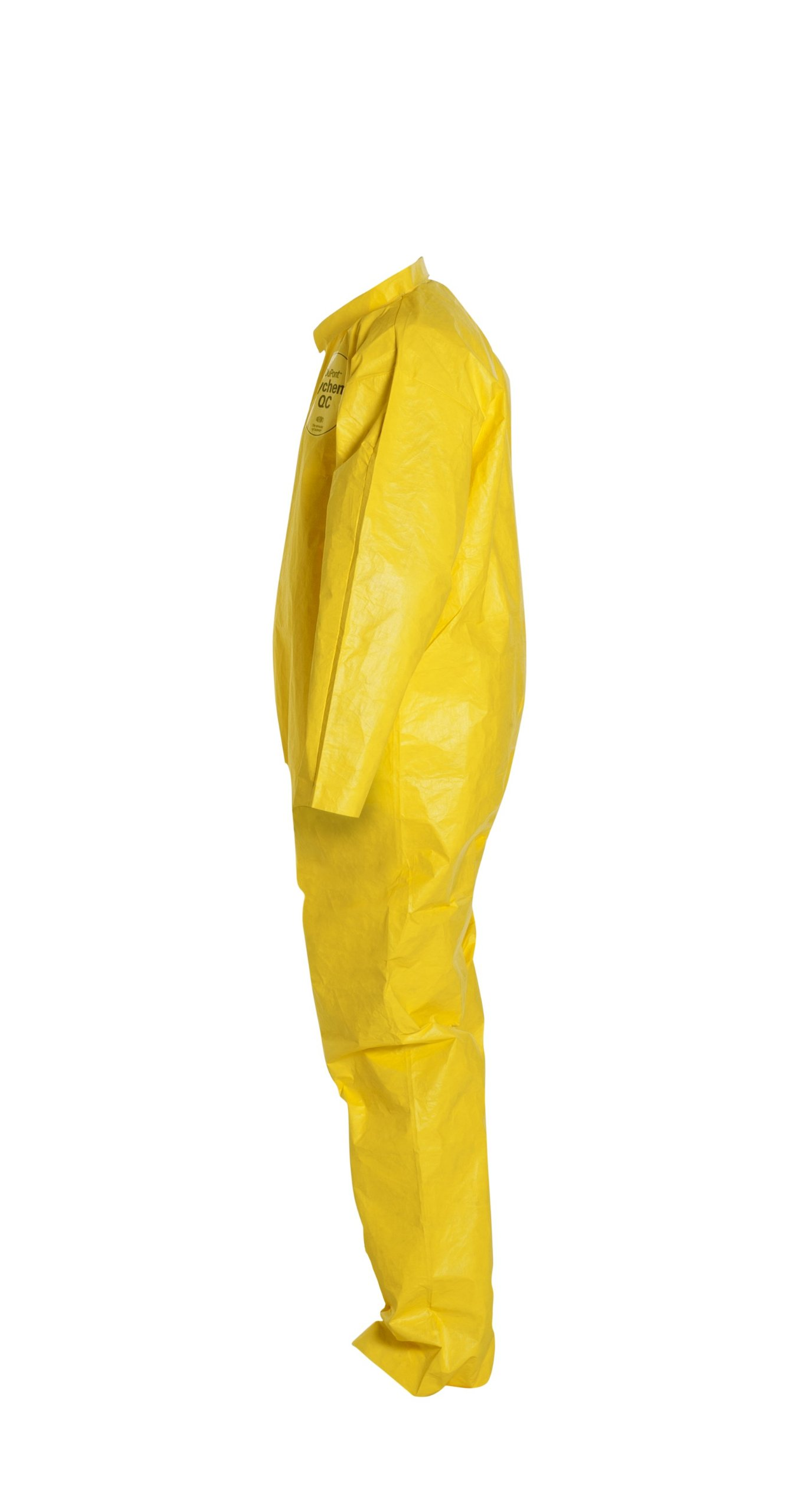 DuPont Tychem 2000 QC120S Disposable Chemical Resistant Coverall with Serged Seams and Open Cuff, Yellow, Large (Pack of 12)