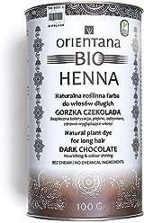 100/% aus Kr/äutern Mahagonirot Orientana BIO HENNA f/ür langes Haar die dem Haar F/ülle verleiht von M/öhren-Farbe bis zum dunklen Mahagonirot eine dauerhafte Haarfarbe 100/% vegan 100 g